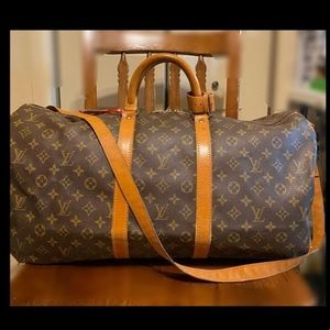 Authentic Louis Vuitton Keepall Bandolier 55 with Crossbody Strap